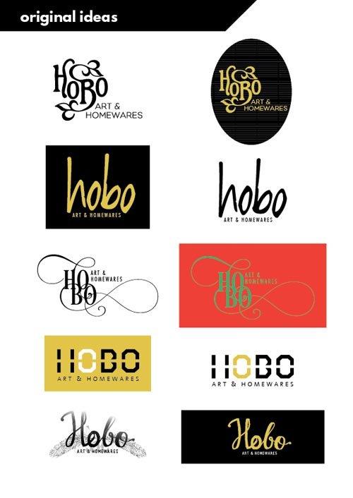 logo design in Hobart stage 1 concepts from She Rocks Digital