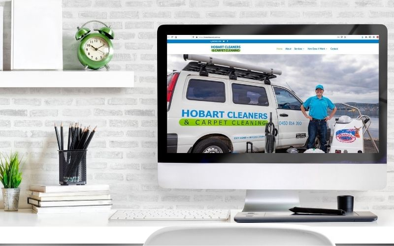website maintenance client Hobart Cleaners and Carpet Cleaning of She Rocks Digital Hobart